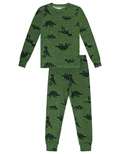 Petit Lem Boy 2Pc Pj Set: L/S Top and Pant Knit, 804 Khaki, 6