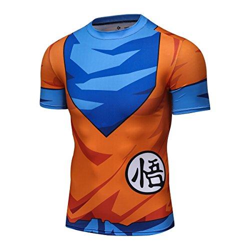 Dragon Ball Z Hombre–Camiseta de entrenamiento para fitness, compresión Camiseta Fit 3d Gráficos Sport Tank Top, Son Goku #1