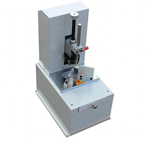 Electric corner rounder machine for stack paper thickness 3'' with 7 different blades from R3 to R9