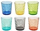 Borella Casalinghi 23417 Set Bicchieri Acqua, Multicolore, 6 unità