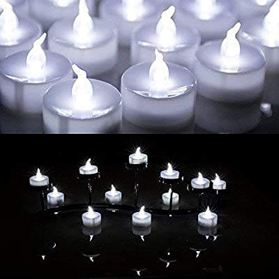 AGPtek Lot 24 Battery Operated LED Tea Light Candle For Wedding Party Festival Decoration Occasions