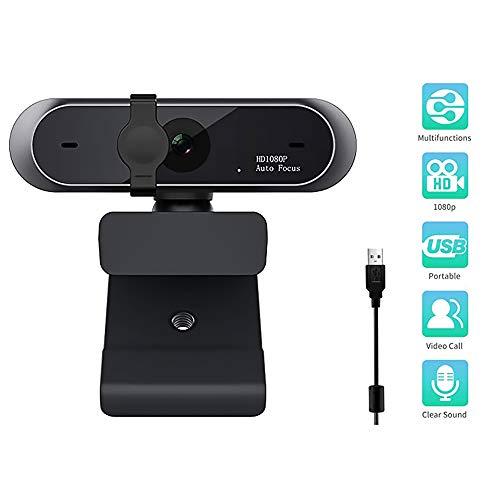 JOMOT Webcam De La PC, 1080P Full HD Webcam USB Desktop Webcam En Vivo De Webcam con Micrófono Mic contra El Asomando para Live Broadcast Video Conferencia Trabajo
