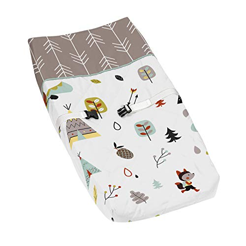 Nature Fox Bear Animals Boys or Girls Baby Changing Pad Cover for Outdoor Adventure Collection