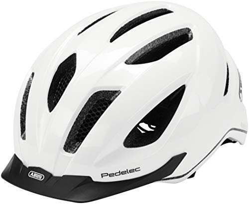 ABUS Pedelec 1.1 Stadthelm - Fahrradhelm mit Rücklicht für den Stadtverkehr - für Damen und Herren - 81911 - Weiß, Größe M