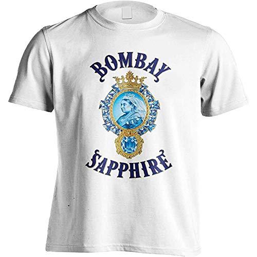 Bombay Sapphire Gin Graphic Top Printed Shirt Tee Mens Fashion T Shirt White L