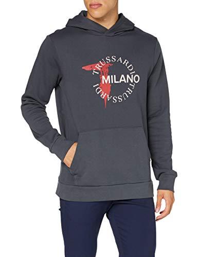 Trussardi Jeans Felpa con Cappuccio, E200, S Uomo