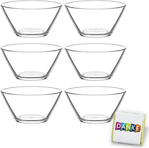 tolle Idee -  6 Stück Glasschalen