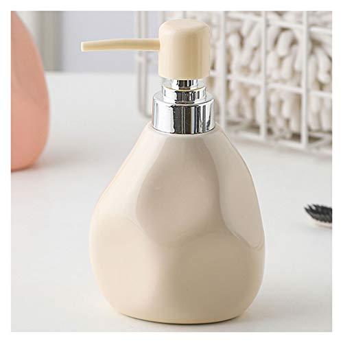 Dispensador de jabón para baño Presione la botella de gel de ducha Exquisito Dispensador de jabón de cerámica Durable Botella de líquido para baño y encimeras de cocina (350 ml / 11.8oz) Dispensador d