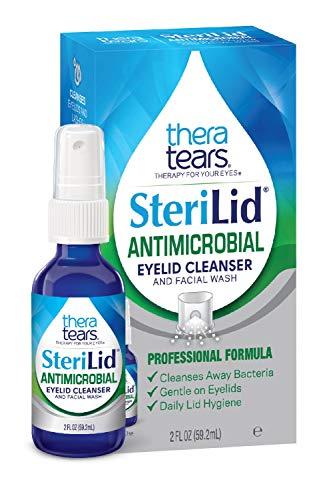 TheraTears Sterilid Antimicrobial Eyelid Cleanser and Facial Wash, with Hypochlorous Acid, 59 mL, 2 Fl oz Spray