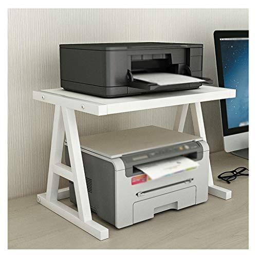 Soporte para ImpresoraOrganizador Escritorio de impresora de la impresora de escritorio, escritorio de impresora multifunción de 2 capas, marco de metal, usado en la máquina de fax de la mesa de ofici