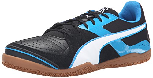 PUMA Men's Invicto Sala Soccer Shoe, Black/White/Cloisonne,...