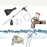DERCLIVE Suministros de tubería de filtro de limpieza de agua de tanque de peces Accesorios de limpieza de sifón para cambio de agua