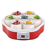 CHUN LING Máquina para Hacer Yogurt, Pantalla Digital, automática fácil, Yogur casero para bebés, Yogur para niños o Desayuno para Llevar