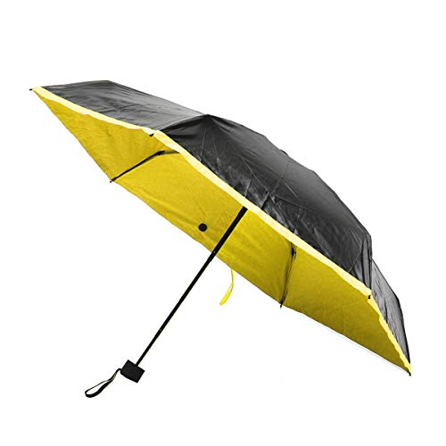 ZZFF Portable Miniskirt Cinque Folding Pocket Umbrella UPF50+UV Rain Waterproof Sunshade s (Color : Yellow)