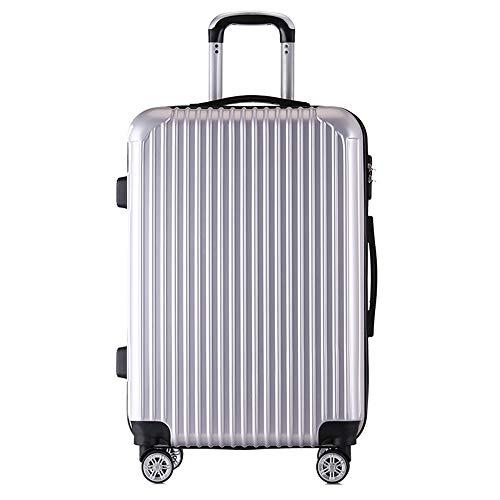 CPURSUE Gepäck, Leichter Allrad-ABS-Hartschalenreisetrolley, 55 cm (26,2 Zoll), 66 cm (31,4 Zoll) (In 4 Farben Erhältlich),Silber,31.4in