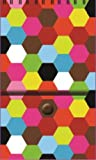 The Gift Wrap Company Pepper Pot French Bull-Solid Hexagon Jolly Jots Note Pad, 3 x 5-Inches Spiral Bound with Snap Closure (63-8304)