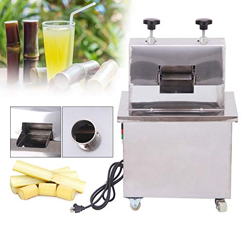 Shikha Commercial Sugarcane Press Electric Sugar Cane Press Juicer with 304 Stainless Steel Rolls,110V