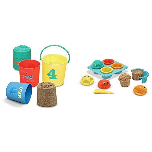 Melissa & Doug Seaside Sidekicks Nesting Pails & Seaside Sidekicks Sand Cupcake Set