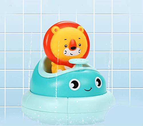 Juguete de baño de Barco y león con Forma de Dibujos Animados, Spray, Spray de Agua a presión, Material ABS, para niños pequeños, niños, niñas y niños, Juego de Juguetes de baño para bebés