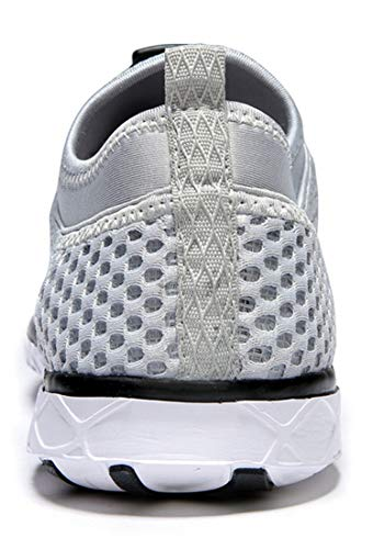 Zhuanglin Men's Quick Drying Aqua Water Shoes Light Grey 9.5