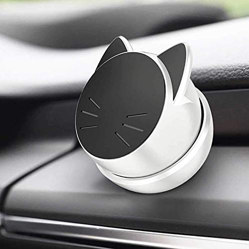 Eisenbe Magnetic Car Phone Mount, Lucky Cat Car Phone Holder, Adjustable Cell Phone Car Mount, Universal Magnetic Stand Holder Compatible With iPhone, Samsung,GPS, Mini Tablet and More (White)