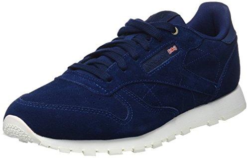 Reebok Unisex-Kinder Classic Leather MCC Sneaker, Blau (Blue Notes/Chalk), 36 EU