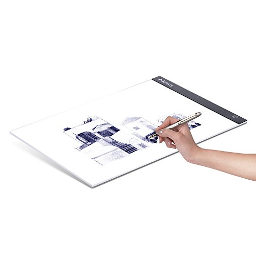 Blue Copy Table Portable-A4 LED Copy Board Stepless Dimming Tracing Light Box for Drawing Animation Sketching USB//Battery Powered