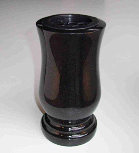 designgrab Vase funéraire XL en granit suédois noir SS1