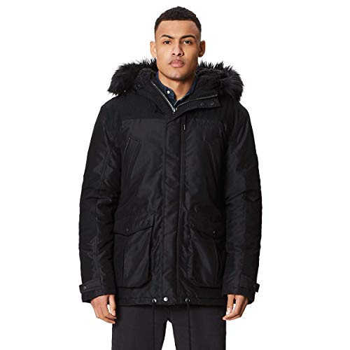 Regatta Aldrich Waterproof and Breathable Thermoguard Insulated Sherpa Fur Lined Hooded Veste Homme, Noir, Grand