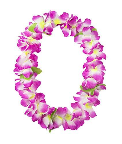 Phoenix Wonder 5PCS Collar Floral Hawaiano Engrosado para Hula Dance Luau Party Suministros de favores de Decoraciones de Fiesta, Morado
