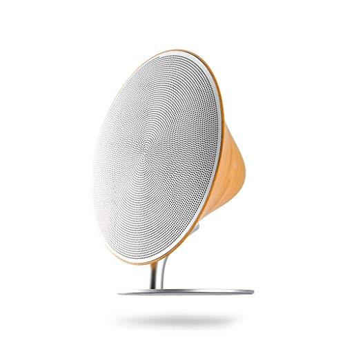 Altavoces portátiles Bluetooth Altavoz inalámbrico Bluetooth Retro Wood Soporte de escritorio Superficie táctil Subwoofer Audio para el hogar para el estante del teléfono para el altavoz del teléfono