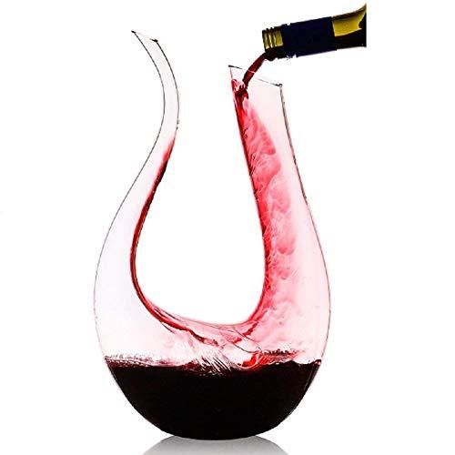 Homiu Wine Decanter 1,2 Litres U Shape Wine Aérateur Carafe à vin