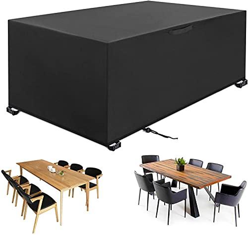 YISSVIC Housse Salon de Jardin 270 x 180 x 89cm 420D Oxford Housse de Protection Bâche de Table Imperméable Résistant à la Vent Pluie UV