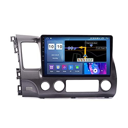 MGYQ 2 DIN Stereo Auto Bluetooth Autoradio con Telecamera Posteriore FM/AUX Ingresso Supporta Bluetooth Vivavoce SWC DSP 1080P Video, per Honda Civic 8 FK FN FD 2004-2011,M100s