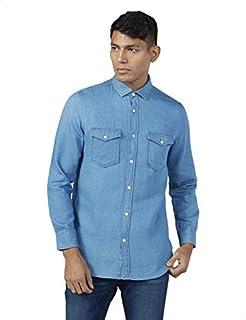 Splash Cotton Chest Button Pocket Long Sleeves Shirt for Men XL