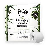The Cheeky Panda - Papel higiénico de bambú   Pack de 4 rollos (3 capas, 200 hojas)  ...