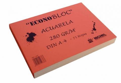 ECONOBLOC DE ACUARELA A-3 280g 75 hojas