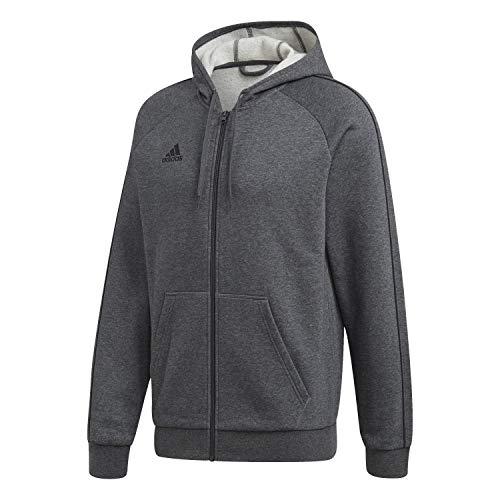 adidas Herren Hoodie Core18 Full Zip Hoodie, Dgreyh/Black, L, FT8070
