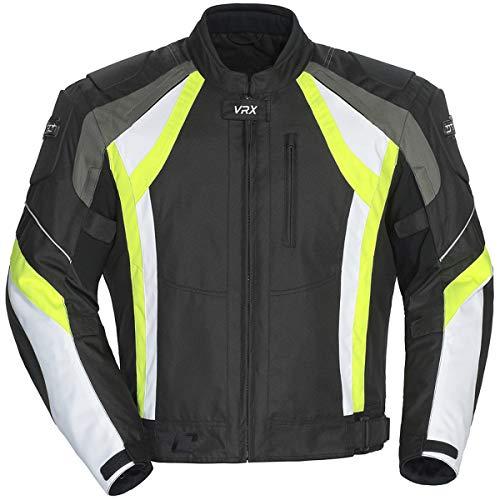 Black//Gunmetal//Hi-Viz Small Cortech VRX Air 2.0 Mens Street Motorcycle Jacket