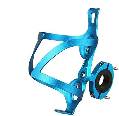 GuDoQi Portabidon Bicicleta Universal, Ajustable y con Adaptador, Ultraligeros en Aleación de Aluminio, Rotación de 90°, Fácil de Instalar, Ideal para Bicicletas de Carretera y Montaña (Azul)