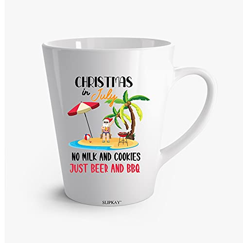 A1MJG5 Christmas In July No Milk And Cookies Just Beer And Bbq Latte Mug 12oz