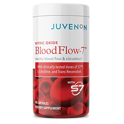 Nitric Oxide Blood Flow-7 - Nitric Oxide Supplement with L Arginine and L Citrulline (90 Capsules) - Nitric Oxide Booster for Healthy Blood Flow & Circulation, Healthy Aging and Weight & Heart Health