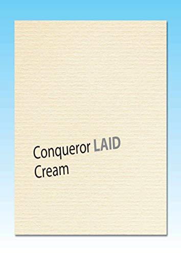 50 Blatt A4 Conqueror Crema Gerippt BriefPapier - Inkjet und Laserdruckern - Wasserzeichen