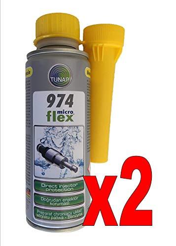 TUNAP 974 Nettoyeur injecteurs essence 200 ml 2 flacons