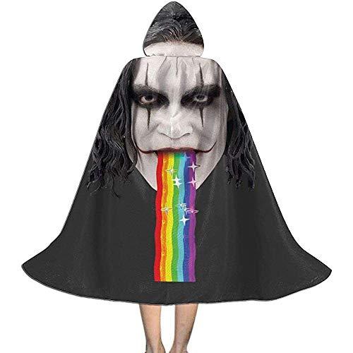 Not Applicable Manto De Bruja,The Crow Brandon Lee Puking Rainbow Snapchat Filtro Suave Y Cmodo Disfraz De Bruja Disfraces para Familiares Reunin De Amigos 88cm