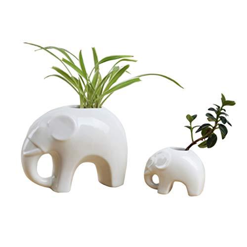 ZANZAN jarrones de cerámica florero madre y niño flor contenedor moda decoración del hogar jarrón sala de estar oficina regalo de boda (blanco)