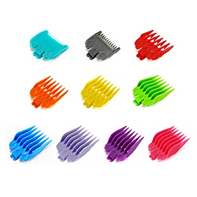 Gwotfy 10 Pieces Colorful Professional Hair Clipper Guide Combs, Replacement Guards Set, Set for Electric Hair Clipper Shaver Haircut Accessory
