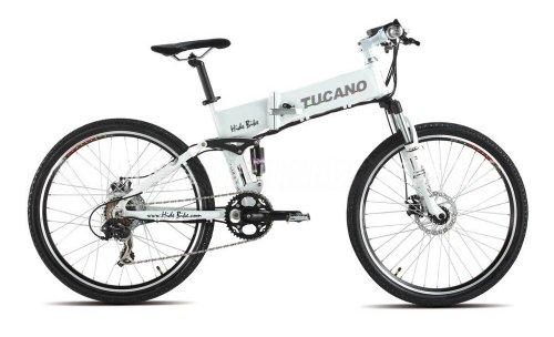 TUCANO - Marnaula HIDEBIKE MTB - Motor 250W -36V -Grado Máximo de Escalada - Bateria Extraible y con Cierre de Seguridad - Cambio Shimano Tourney 21 SP - (HIDEBIKE Blanca-White)