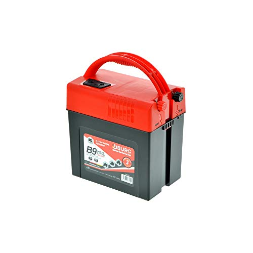 BURG. Electrificador B9 9 V para Vallas de Aparcamiento a batería Animales pasculo