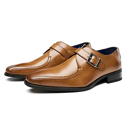 [Bageson] ビジネスシューズ メンズ カジュアルシューズ 本革 紳士靴 革靴 ローファー レースアップ ウィングチップ ウォーキング 軽量 オールシーズン 通気性(ブラウン、26.5